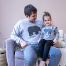 Personalised Daddy And Baby Bear Sweatshirt Set