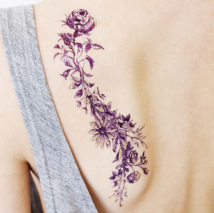 Rosy And Daisy Gold Temporary Tattoo