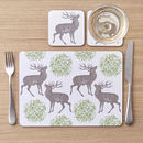 Stag And Mistletoe Placemats