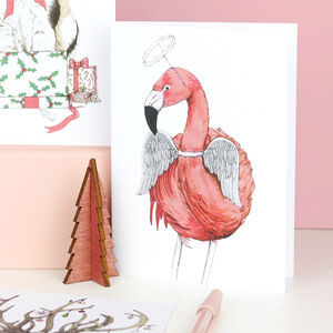 'Festive Fiesta' Flamingo Christmas Card