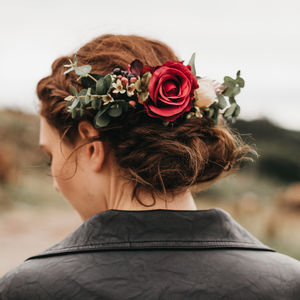 Flora Rose Hair Comb - bridal hairpieces
