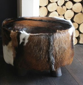 Large Cowhide Stool - rose gold jewellery