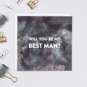 'Will You Be My Best Man?' Card - be my bridesmaid?