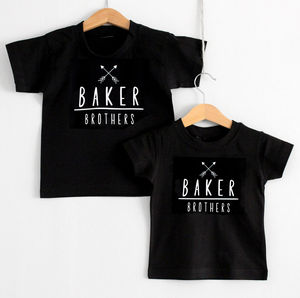 'Surname' Brothers T Shirt Set - t-shirts & tops