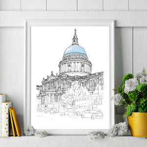St Paul's Cathedral Signed Print - prints for christmas