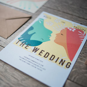 Vintage Movie Wedding Day Invitations - new lines added