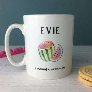 'I Carried A Watermelon' China Mug For Friend - tableware