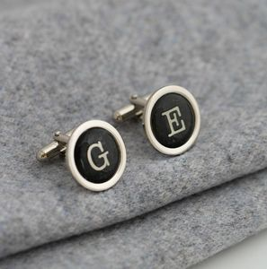 Personalised Vintage Typography Letter Cufflinks - cufflinks