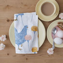 Chicken And Carnation Napkin Set Of Four