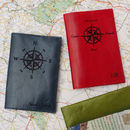 Personalised Compass Passport Holder