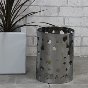 Metal Love Heart Personalised Candle Holder - candles & candle holders