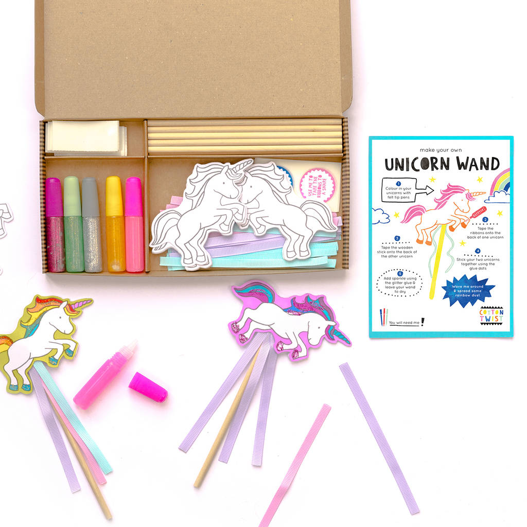 Unicorn wand craft party kit by cotton twist for Wand making kit