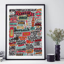 London Typographic Print