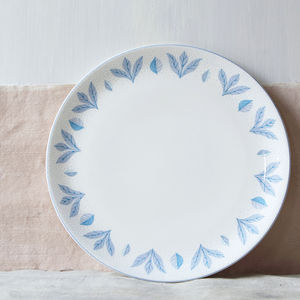 Blue Botanical Dinner Plate