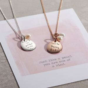 Personalised Pearl Necklace - jewellery