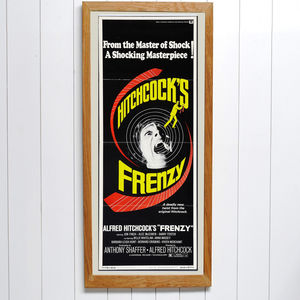Original Frenzy Alfred Hitchcock Insert Film Poster - posters & prints