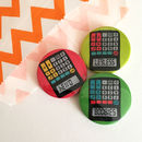Funny Rude School Calculator Badge Set