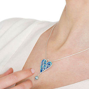 Enamelled Heart Pendant
