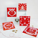 Pack Of Five Scandi Christmas Cards