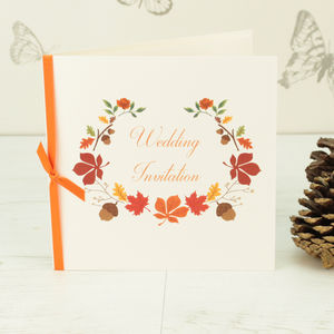 Autumn Wedding Invitation - wedding stationery