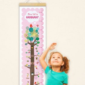 Personalised Fairy Tree Height Chart - baby's room