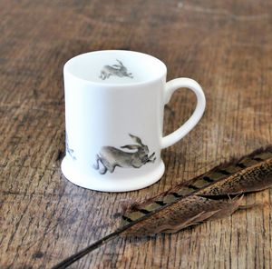 Running Hare Bone China Mini Mug
