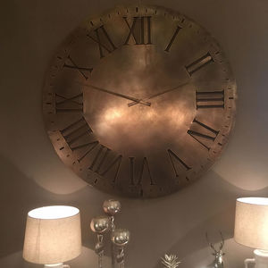 Antique Copper Oversized Wall Clock - clocks