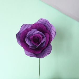Personalised Purple Paper Rose - home accessories