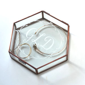 Personalised Hexagonal Jewellery Keepsake Box - rose gold jewellery