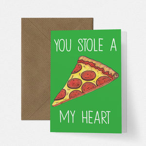 Cheesy Pizza Love Card