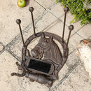 Cast Iron Shoe Holder With Brush And Scraper
