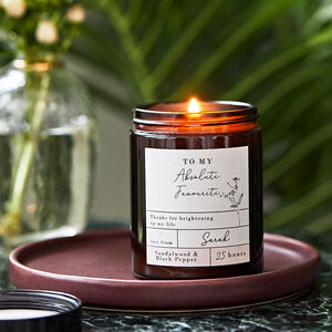 Personalised Apothecary Candle