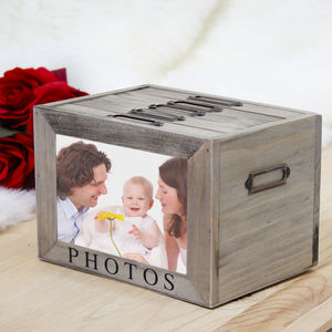 Family Wooden Photo Memory Boxes - gifts from younger children