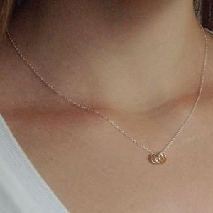Sterling Silver Tiny Circles Necklace