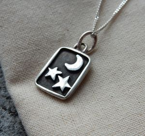 Silver Night Sky Pendant And Chain