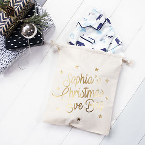Personalised Christmas Eve Bag - winter sale