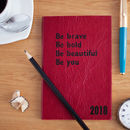 Mindfulness Diary, 2018 Diary In Real Leather