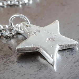 Personalised Large Star Charm Necklace