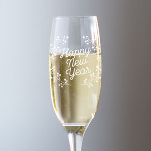 Happy New Year Champagne Glass - champagne glasses