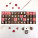 Personalised Please Be My Bridesmaid Chocolate Gift