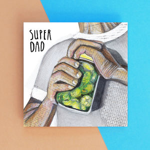 Super Dad Father's Day Greetings Card