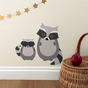 Raccoon Wall Stickers