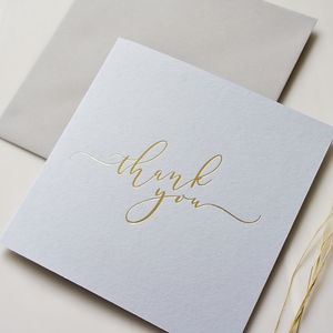 Calligraphy Thank You Cards Pack Of Five - thank you cards