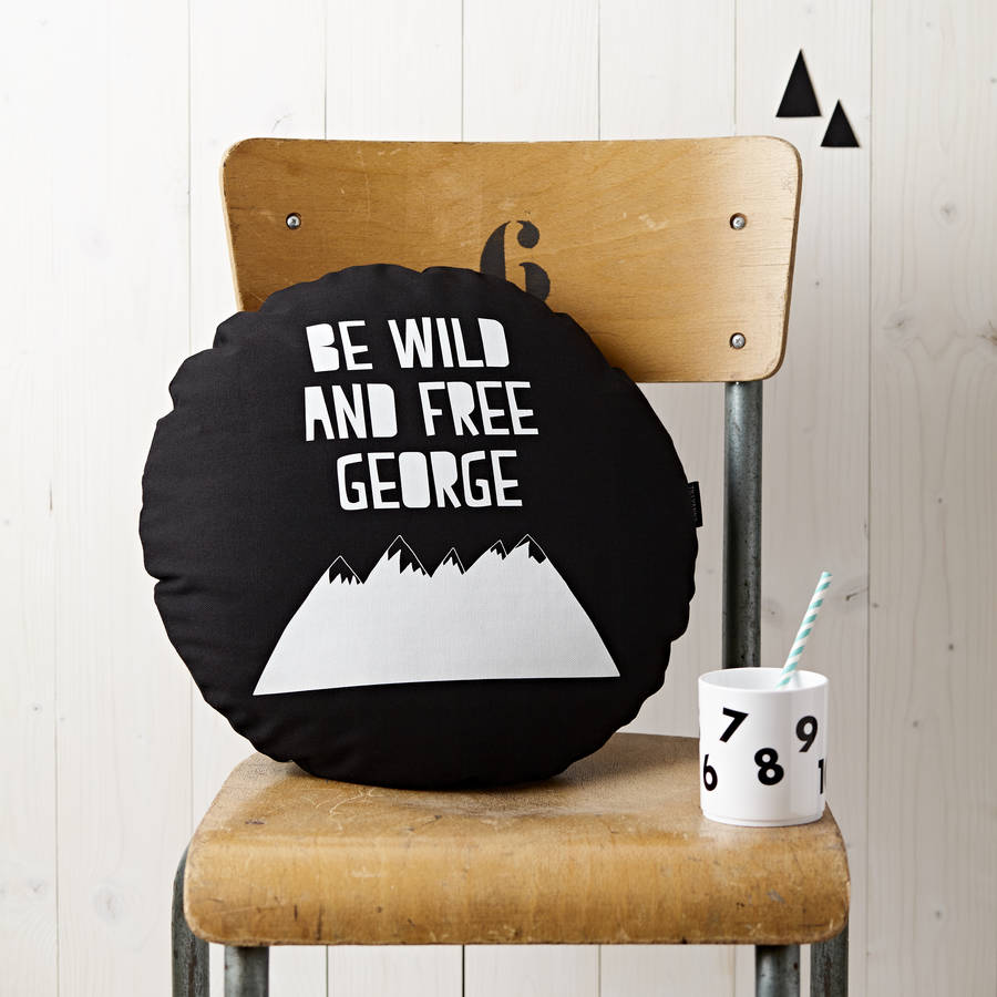 Personalised Be Wild And Be Free Cushion
