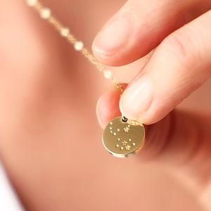 Hand Made Gold Star Constellation Necklace - celestial jewellery