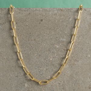 Long Link Chain Necklaces In Gold And Silver