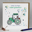 Grandson Birthday Card Tractor Theme