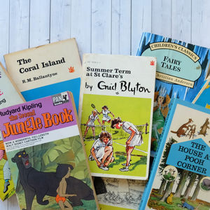 Vintage Children's Instant Mini Library - books