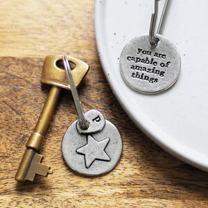 'You Are Capable Of Amazing Things' Star Keyring