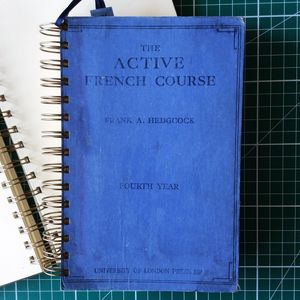 'The Active French Course' Upcycled Notebook